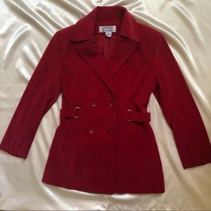 Jackets & Blazers - Red Peacoat